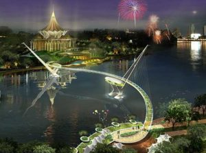 """Read more about the article Sarawak's waterfronts revitalised with a magnificent bridge, the """"Jambatan Darul Hana"""""""